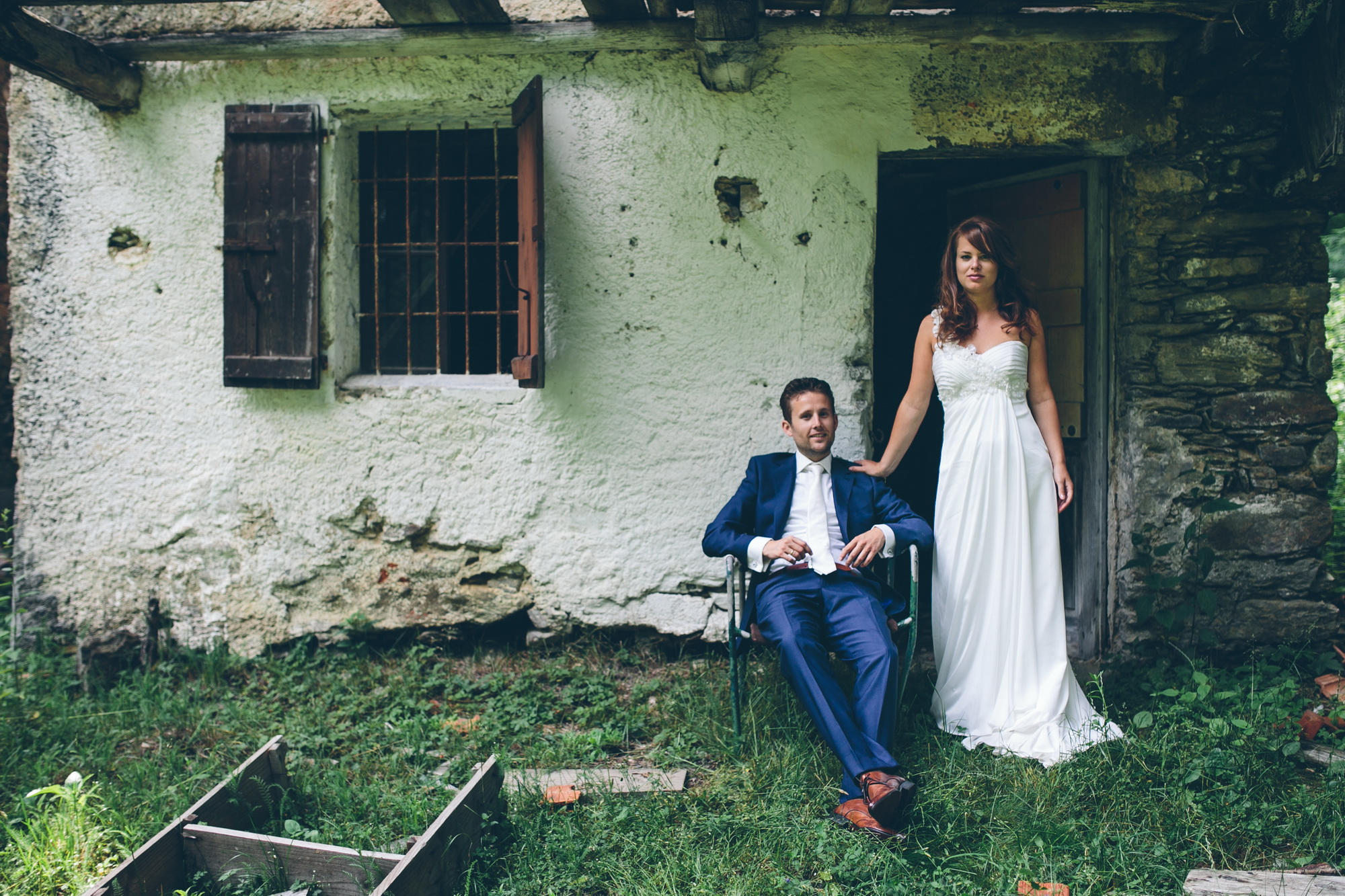 Bruidspaar bij Lago Maggiore - Banganimation trouwreportages